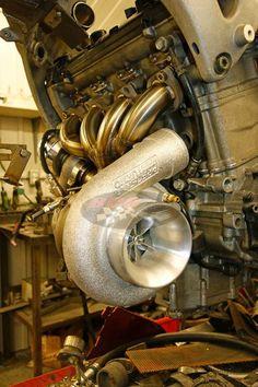 Custom Precision turbo kit for busa