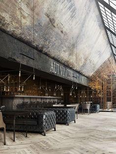 """Restaurant """"Aut vincere aut mori"""" on Behance by Daniel Nagaets #retrohomedecor"""