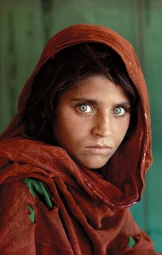Sharbat Gula was one of the students in an informal school within the refugee camp; McCurry, rarely given the opportunity to photograph Afghan women, seized the opportunity and captured her image. She was approximately 12 years old at the time. She made it on the cover of National Geographic next year, and her identity was discovered in 1992.