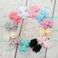 """Just Adorable!!! Boutique satin and organza hair bows on a metal alligator clip.These bows measure approx 3"""" inches wide and will add the perfect final touch to"""