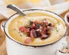 Soupe de chou-fleur minceur aux croutons de saucisse et chorizo : http://www.fourchette-et-bikini.fr/recettes/recettes-minceur/soupe-de-chou-fleur-minceur-aux-croutons-de-saucisse-et-chorizo.html