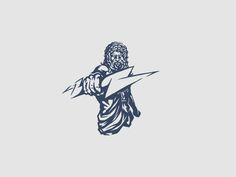 Zeus Illustration designed by Camo Creative. Connect with them on Dribbble; the global community for designers and creative professionals. Best Logo Design, Graphic Design, Line Work Tattoo, Game Logo, Tattoo Life, King Logo, Logo Design Inspiration, Body Art Tattoos, Tattoo Designs