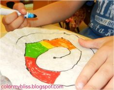 This is a fun, colorful and fairly easy art project for children of all ages. My preschoolers loved it! You will need: Coffee filters...
