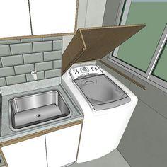 Lavanderia funcional e perfeita. Projeto perfeito que por causa das medidas do apto precisou de alteração. Mas um trabalho maravilhoso da…