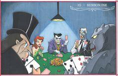 Funny Comics, Dc Comics, Batman Fight, Batman The Animated Series, Animation Series, Scene, Fan Art, Competition, Anime