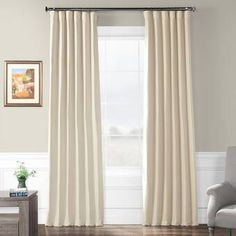 Shop Exclusive Fabrics French Linen Lined Curtain Panel - On Sale - Overstock - 16132708 - 50 X 108 - Flax Beige Tab Curtains, Room Darkening Curtains, Lined Curtains, Colorful Curtains, Blackout Curtains, Curtain Panels, Lounge Curtains, Living Room Drapes, Green Curtains
