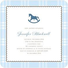 Rocking horse baby shower invitation baby shower ideas pinterest blue rocking horse baby shower invitations filmwisefo