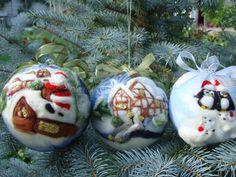 Christmas Ball mit Winter Bild.Nadel Feltеd von ElisFeltCraft, $22.00