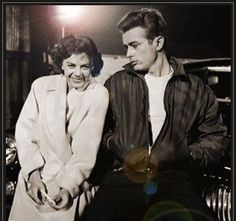 """Natalie Wood"""" and James Dean, in Rebel Without a Cause (1955)"""