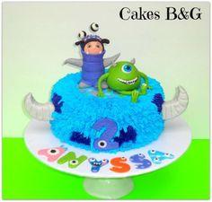 monsters inc cake   Monsters Inc. Birthday Cake