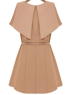 Shop Pink Cape Short Sleeve Slim Dress With Belt online. SheIn offers Pink Cape Short Sleeve Slim Dress With Belt & more to fit your fashionable needs.