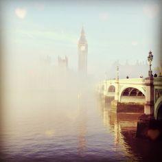 A glimpse of Big Ben through the #London mist 5°C | 41°F #BurberryWeather