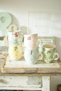 Anthro mugs
