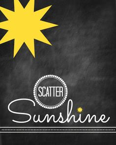 Scatter Sunshine Printable from Blissful Roots