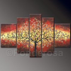 Big tree, Price: $380.00, Shipping: Free Shipping, Size of Parts: 30cm x 100cm x 1 panel + 30cm x 75cm x 2 panels + 35cm x 50cm x 2 panels, Total Size (W x H): 160cm x 100cm, Delivery: 14 - 21 Days, Framing: Framed & Ready to Hang! Not a Print - our artists are professionally trained and use the best oil paints. http://www.directartaustralia.com.au/