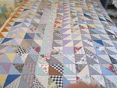 Vintage-Quilt-Top-Triangles