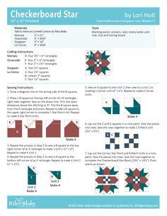 2021 RBD Block Challenge Patterns | Riley Blake Designs Pattern Blocks, Quilt Patterns, Block Patterns, Rotary Cutter, Corner Unit, Riley Blake, Stargazing, Quilt Blocks, Four Square