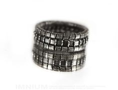 USX III ring  industrial sterling silver ring by IMNIUM on Etsy, $64.99
