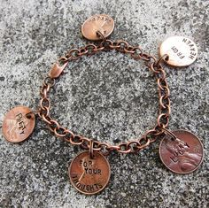 Love this penny bracelet ;) I chose pennies with all the birthdates of my family on :)