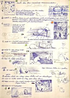 """The original script for """"Moomins and the great flood,"""" 1944."""