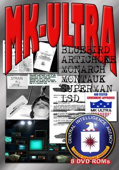MK-ULTRA DECLASSIFIED - 8 DVD-ROM boxed shrinkwrapped library