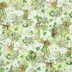 Michael Miller fabric Morning Fairy Garden flower fairy 2