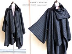 Elena Fashion Design Workshops   EWST fashionlab  : Zero-Waste, Kimono Cape-Coat