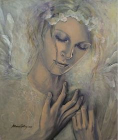 Deep Inside Art Print by Dorina Costras. All prints are professionally printed, packaged, and shipped within 3 - 4 business days. Inside Art, Acrylic Artwork, Acrylic Paintings, Angels Among Us, Angels In Heaven, Heavenly Angels, Angel Art, Tumblr, Art Pages