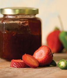 Sizzling strawberry-habanero jam