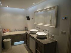 badkamer met ruw stucwerk - Home improvement   Pinterest - Badkamer ...