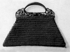 Vintage Crochet Bag Purse Pattern PDF Fifth Avenue Bag
