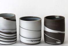 little vases black & white Marjoke de Heer