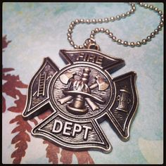 fireman firefighter necklace  pendant  by WhisperWillowDesignz, $25.00