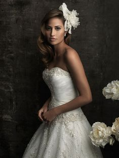 @Bellethemagazine wedding dresses | Allure Bridals 2015 Collection | Floor Ivory Ball Gown Sweetheart