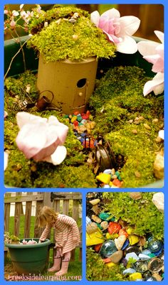 Creative playtime:  Make an easy fairy house and garden. | from Creekside Learning