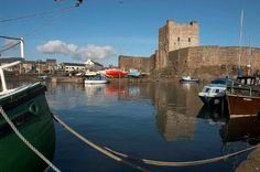 Castle and harbour at Carrickfergus co Antrim N.Ireland, the ancient capitol of the North of Ireland. Norman Castle, Northern Ireland, Ireland Uk, Out To Sea, Castle House, One Summer, Tower Of London, 12th Century, Nature Scenes