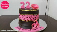 fault line cake 22 birthday chocolate bakery cake simple design ideas fo. The Effective Pictures We Offer You About birthday cake funny A quality picture can tell you many things. You can find the m Birthday Cake For Wife, Happy Bday Cake, 22nd Birthday Cakes, Birthday Cake Flavors, Frozen Birthday Cake, 22 Birthday, Simple Birthday Cake Designs, Cake Designs For Girl, Simple Cake Designs