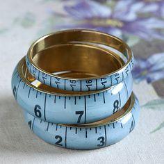 Set Of Three Tape Measure Bracelets