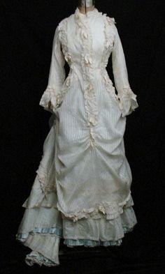 brussels lace dress 1880 | Wonderful 1880's Summer Dress