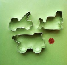 Construction Cookie Cutters Set - Bulldozer Cookie Cutter - Dump Truck Cookie Cutter - Tow Truck Cookie Cutter. $8.98, via Etsy.