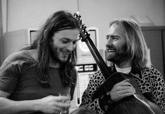 David Gilmour with... looks like Roy Harper