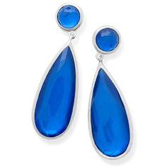 Women's Ippolita Wonderland Teardrop Earrings ($695) ❤ liked on Polyvore featuring jewelry, earrings, ultramarine, ippolita jewelry, ippolita earrings, silver jewelry, silver tear drop earrings and silver teardrop earrings