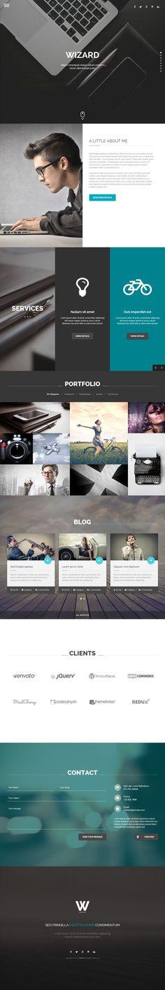 Wizard is Premium full Responsive Portfolio HTML5 template…  Latest News & Trends on #webdesign | http://webworksagency.com