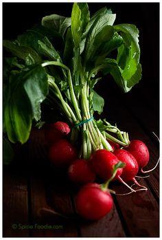 The Humble Radish; Radish Bunch; Bunch of Radishes; food photography; red; radish; radishes; radish green; edible; root vegetable; vegetable; spicy; photography; Sunday Snapshots; Spicie Foodie