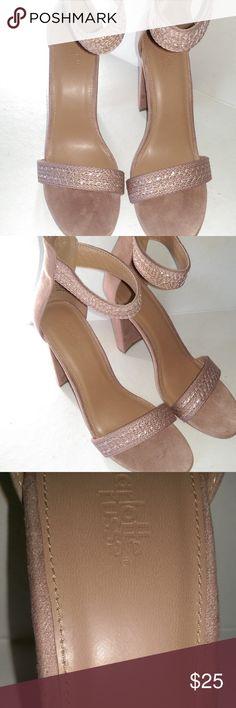 747bcb4c0457 New Charlotte Russe Heel 9 Pink Suede Zip Strap Store Inventory Liquidation  - Worn inside store