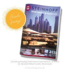 Catalog Hotel Interior International for Steinhoff GmbH, Westerstede | 56 Sites | www.designstuuv.de