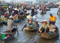 The floating markets of the Mekong Delta in southern region of Vietnam have become quite an attraction to tourists.