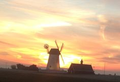 A very 'psychedelic' Lytham windmill Windmill, Psychedelic, Monument Valley, Inspirational, Celestial, Sunset, Places, Nature, Travel