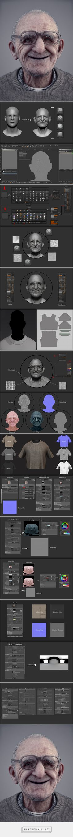 // Making of 'Smile at all ages' by Reza Abedi / Maya V-Ray ZBrush Misc tutorial from 3dtotal.com...