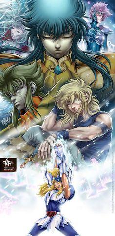 Saint Seiya Camus and Hyoga